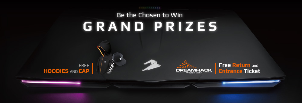 WIN A GRAND PRIZE for 2 TO DREAMHACK WINTER 2017 in SWEDEN