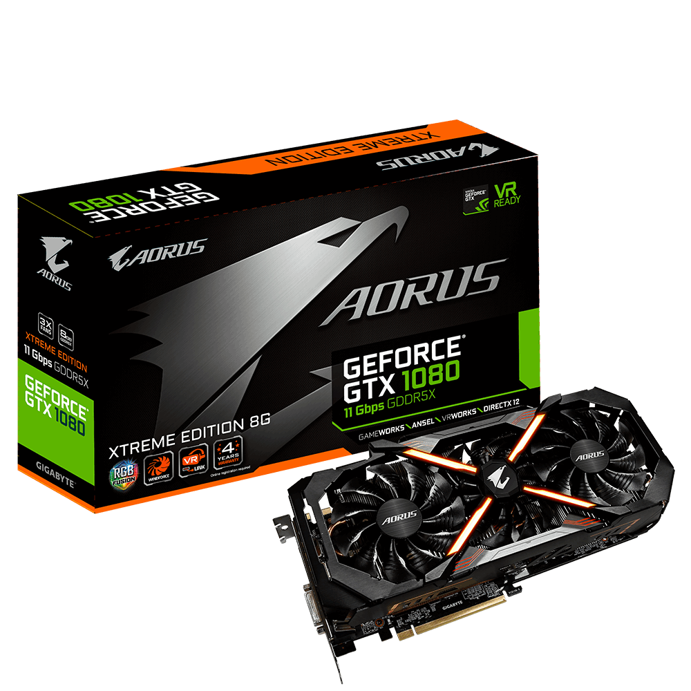 AORUS GeForce® GTX 1080 Xtreme Edition 8G 11Gbps
