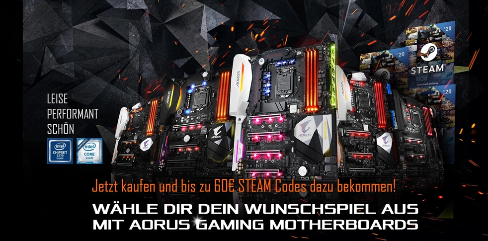 Select Your Game Free with AORUS Gaming Motherboards!