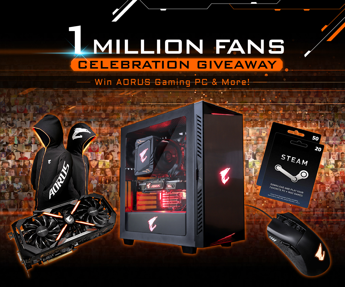 AORUS 1 MILLION FANS  CELEBRATION GIVEAWAY