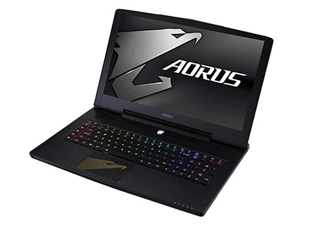 Test Aorus X7 DT v8 (i7-8850H, GTX 1080, Full-HD) Laptop
