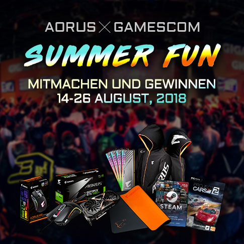 AORUS|GAMESCOM 2018 Summer Fun Online Giveaway