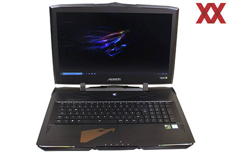 AORUS X9 DT, with Intel Core i9-8950HK and NVIDIA GeForce GTX 1080, has the fastest components available and accelerates.