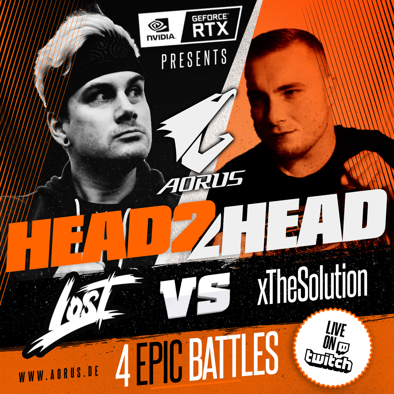 AORUS #HEAD2HEAD Stream Battle powered by NVIDIA